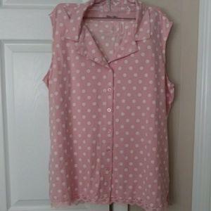 Pale pink shorts & top pjs set